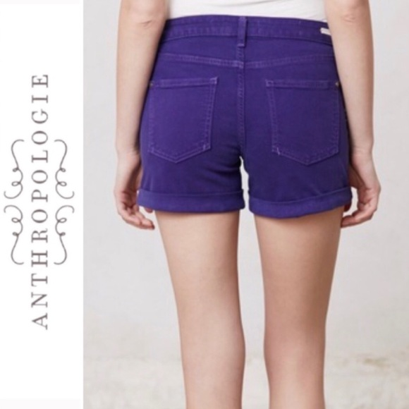 Anthropologie Pants - Anthropologie Pilcro Jean Shorts Dark Purple 29 8